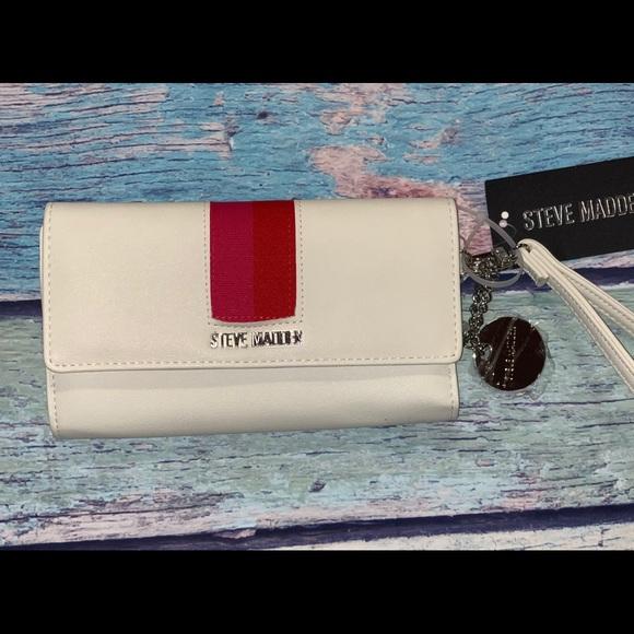 Steve Madden Bags White Steven Madden Tri Fold Wallet Poshmark